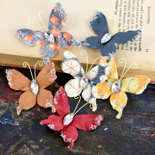 Prima - Papillons Collection - Butterfly Embellishments - Craftsman