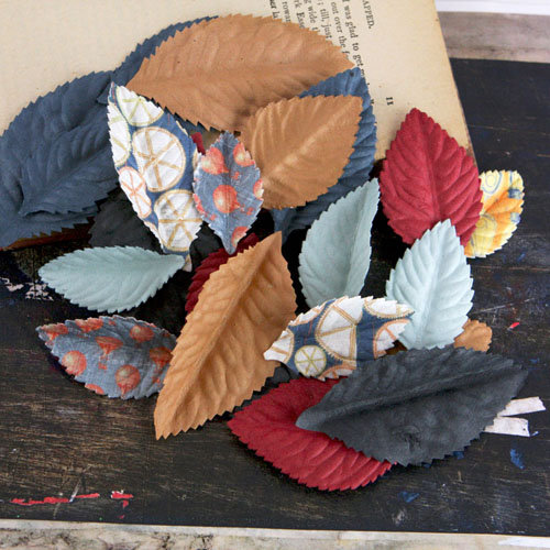 Prima - Plume Collection - Leaves Embellishments - Craftsman