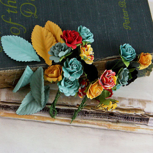 Prima - Perles Collection - Flower and Leaves Embellishments - Welcome to Paris