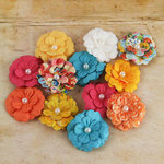 Prima - Silentium Collection - Flower Embellishments - Zephyr