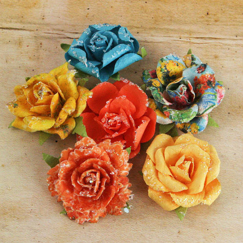 Prima - Timido Collection - Flower Embellishments - Zephyr