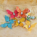 Prima - Papillons Collection - Butterfly Embellishments - Zephyr