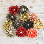 Prima - Silentium Collection - Flower Embellishments - Tea-Thyme