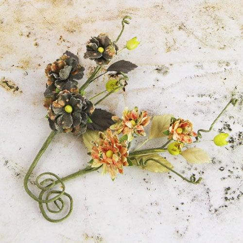 Prima - Bosque Collection - Flower Embellishments - Tea-Thyme