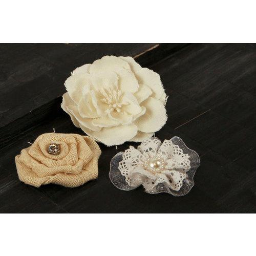 Prima - Au Naturale Collection - Fabric Flower Embellishments - Mix 1