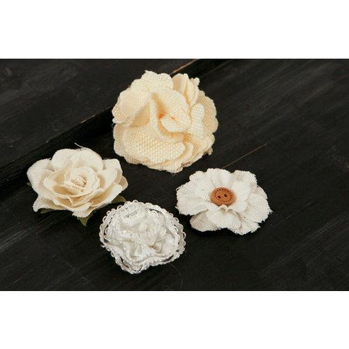 Prima - Au Naturale Collection - Fabric Flower Embellishments - Mix 2