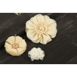 Prima - Au Naturale Collection - Fabric Flower Embellishments - Mix 6