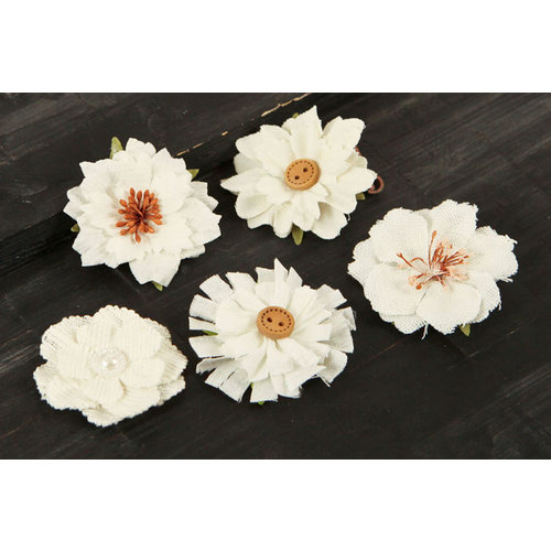 Prima - Tessitura Collection - Fabric and Paper Flower Embellishments - Mix 1