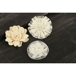 Prima - Tessitura Collection - Fabric and Paper Flower Embellishments - Mix 4
