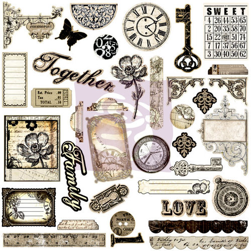 Prima - Engraver Collection - Self Adhesive Chipboard Pieces