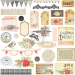 Prima - Lyric Collection - Self Adhesive Chipboard Pieces