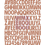 Prima - Fairy Rhymes Collection - Canvas Alphabet Stickers - Uppercase