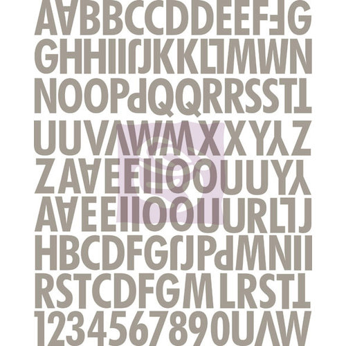 Prima - Hello Pastel Collection - Canvas Alphabet Stickers - Uppercase