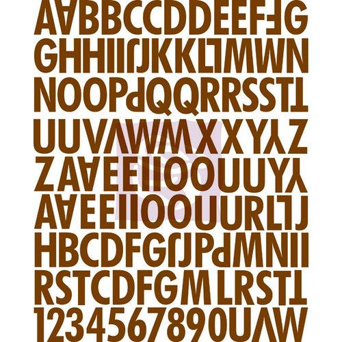 Prima - Sunrise Sunset Collection - Canvas Alphabet Stickers - Uppercase