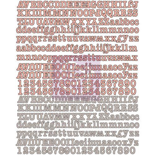 Prima - Divine Collection - Canvas Alphabet Stickers