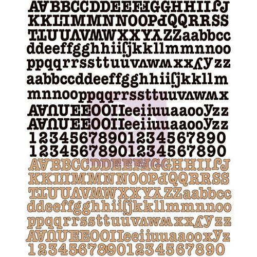 Prima - Engraver Collection - Canvas Alphabet Stickers