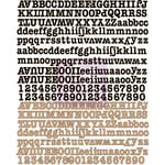Prima - Engraver Collection - Canvas Alphabet Stickers