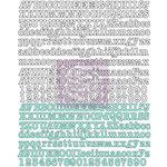Prima - Hello Pastel Collection - Canvas Alphabet Stickers
