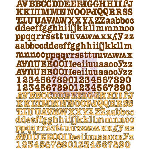 Prima - Lady Bird Collection - Canvas Alphabet Stickers