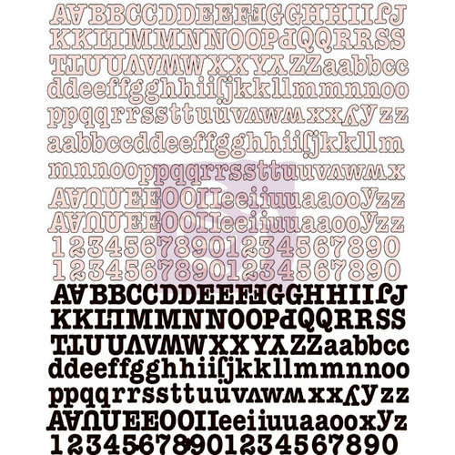 Prima - Lyric Collection - Canvas Alphabet Stickers