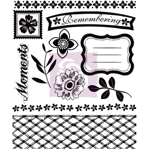 Prima - Hello Pastel Collection - Clear Acrylic Stamps - Three