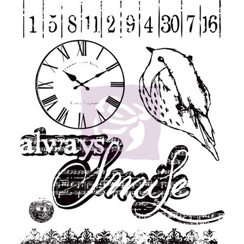 Prima - Lyric Collection - Clear Acrylic Stamps - One
