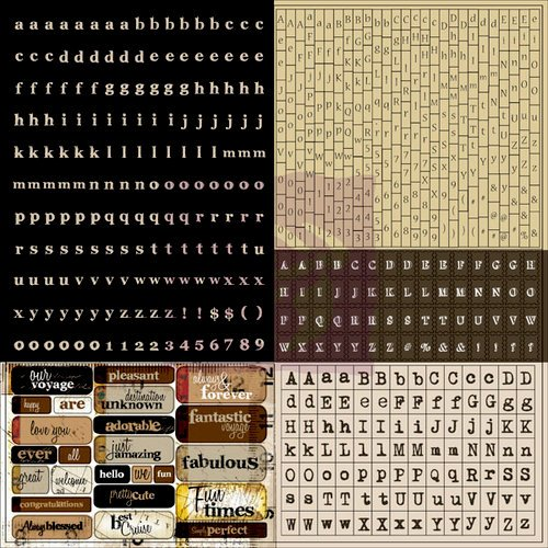 Prima - Engraver Collection - Cardstock Stickers - Tiny Alphabets