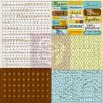 Prima - Lady Bird Collection - Cardstock Stickers - Tiny Alphabets