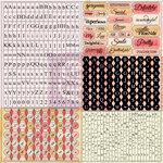 Prima - Lyric Collection - Cardstock Stickers - Tiny Alphabets
