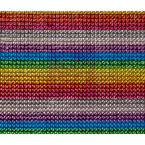 Prima - Say It In Crystals Collection - Bling - Self Adhesive Gem Sheet - Rainbow