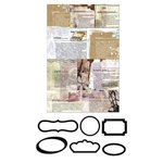 Prima - Lifetime Collection - Metal Embellishments - Newsprint Mini Frames