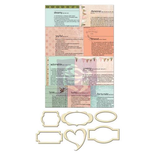 Prima - Fairy Rhymes Collection - Metal Embellishments - Newsprint Mini Frames