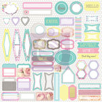 Prima - Hello Pastel Collection - 12 x 12 Cardstock Stickers - Journaling Spot