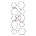 Prima - Say It In Crystals Collection - Self Adhesive Jewel Art - Bling - Hexagon - Iridescent