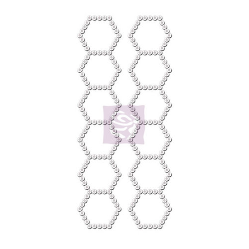 Prima - Say It In Crystals Collection - Self Adhesive Jewel Art - Bling - Hexagon Strips - Iridescent