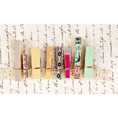 Prima - Divine Collection - Canvas Covered Wood Clips