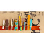 Prima - Lady Bird Collection - Canvas Covered Wood Clips