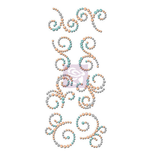 Prima - Say it In Crystals Collection - Bling - Mini Swirls - Lifetime