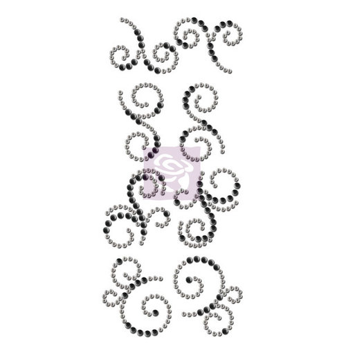 Prima - Say it In Crystals Collection - Bling - Mini Swirls - Sunrise Sunset