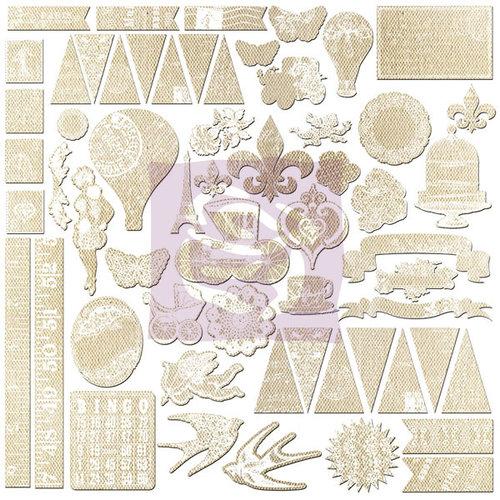 Prima - Divine Collection - 12 x 12 Resist Canvas Stickers