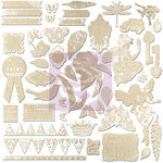 Prima - Fairy Rhymes Collection - 12 x 12 Resist Canvas Stickers