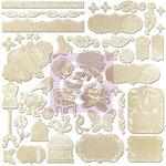 Prima - Lady Bird Collection - 12 x 12 Resist Canvas Stickers