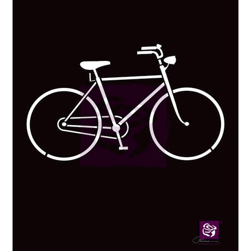 Prima - Stencil Mask - 6 x 6 - Bicycle