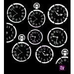 Prima - Stencils Mask Set - 6 x 6 - Clocks