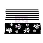 Prima - Wood Mounted Rubber Stamp - Washi Tape - Four