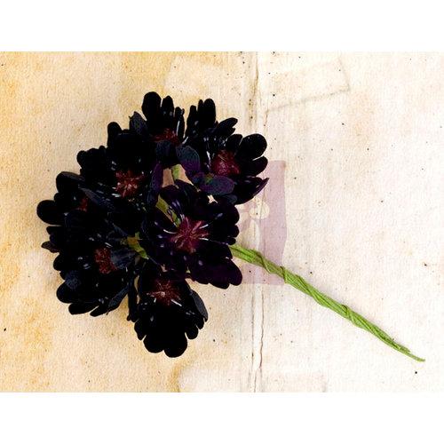 Prima - Engraver Collection - Flower Embellishments - Black