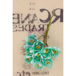 Prima - Lady Bird Collection - Flower Embellishments - Turquoise
