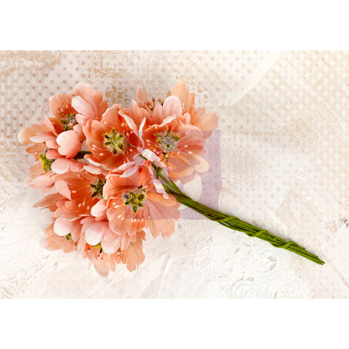 Prima - Lyric Collection - Flower Embellishments - Peach