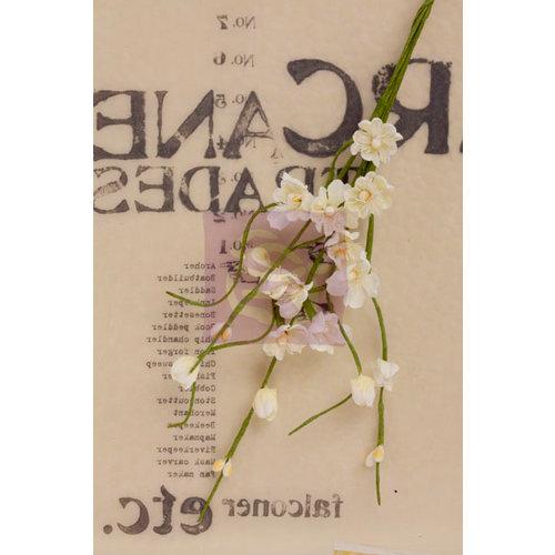 Prima - Lady Bird Collection - Flower Embellishments - Solid Flower Vine - White