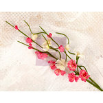 Prima - Lyric Collection - Flower Embellishments - Solid Flower Vine - Dark Pink
